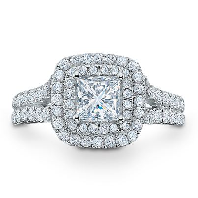 Want a serious sparkler? Say yes to a double-halo engagement ring - one of this year's top engagement ring trends.