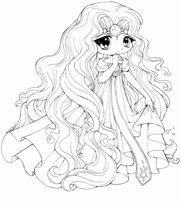 Umbrellagirl Lineart Chibi Coloring Pages Cute Coloring Pages Coloring Pages For Girls