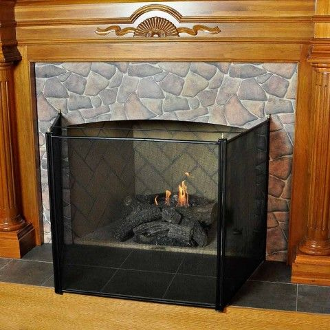 Empire Comforts Black Fireplace Hood Accessory