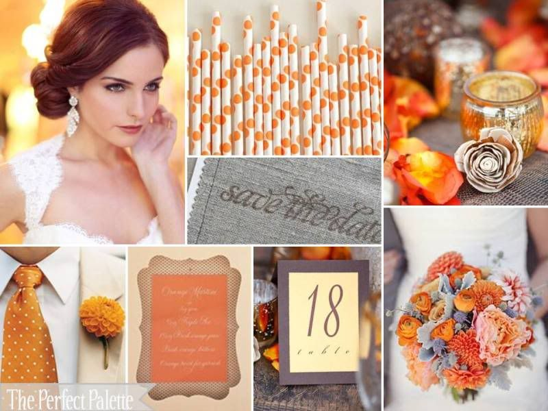 Burnt Orange Wedding Decorations | Burnt Orange