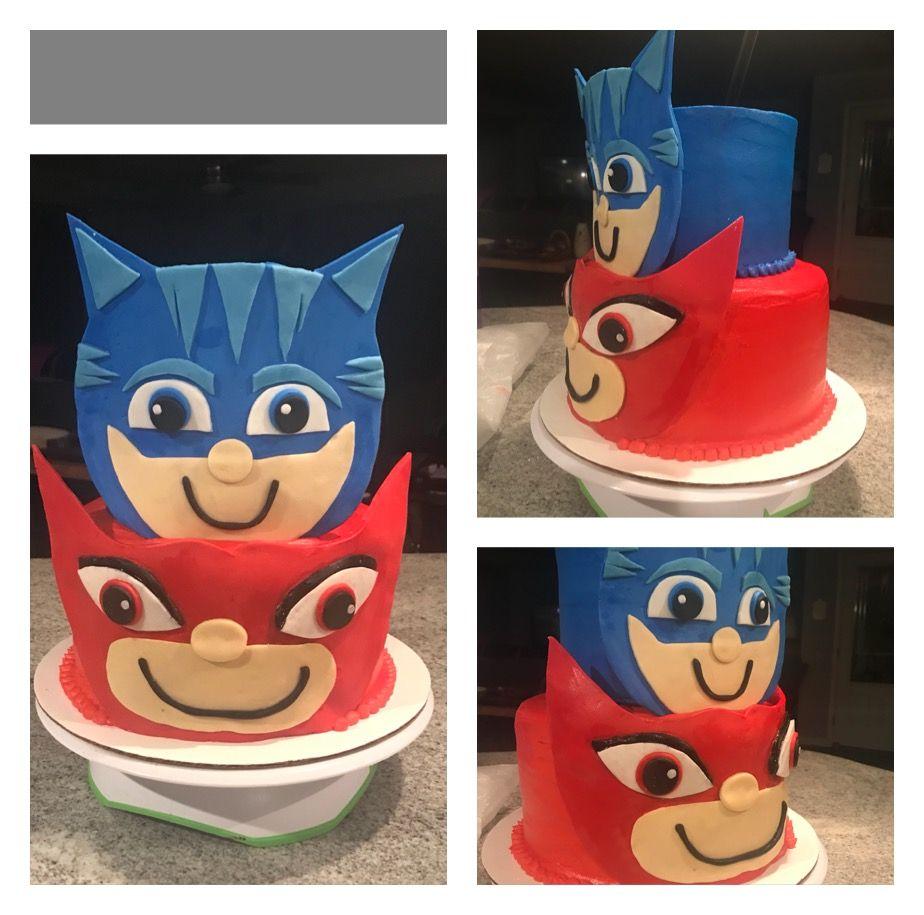 pj mask birthday cake  pj masks birthday