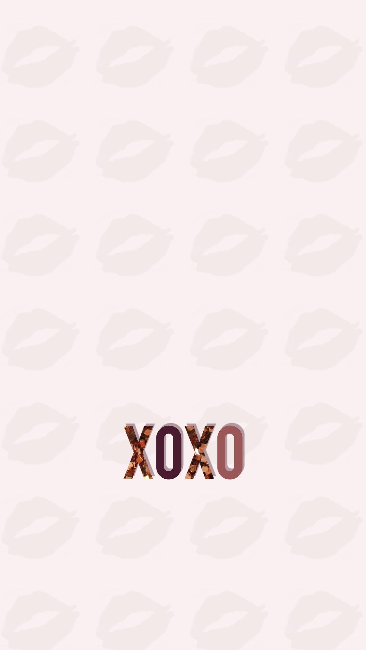 Wallpaper Background Iphone Android Hd Xoxo Lips Kiss Gold Rose Glitter Lip Wallpaper Iphone Background Rose Gold Wallpaper