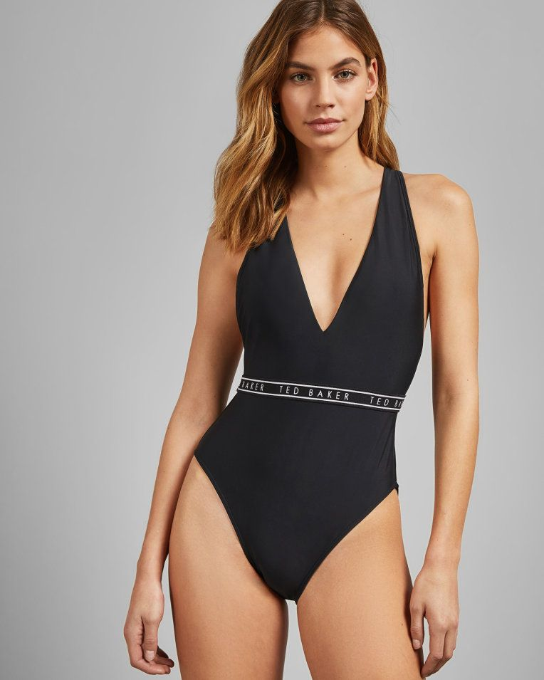 new varieties big collection preview of Logo swimsuit - Black | Swimwear And Beachwear | Ted Baker ...