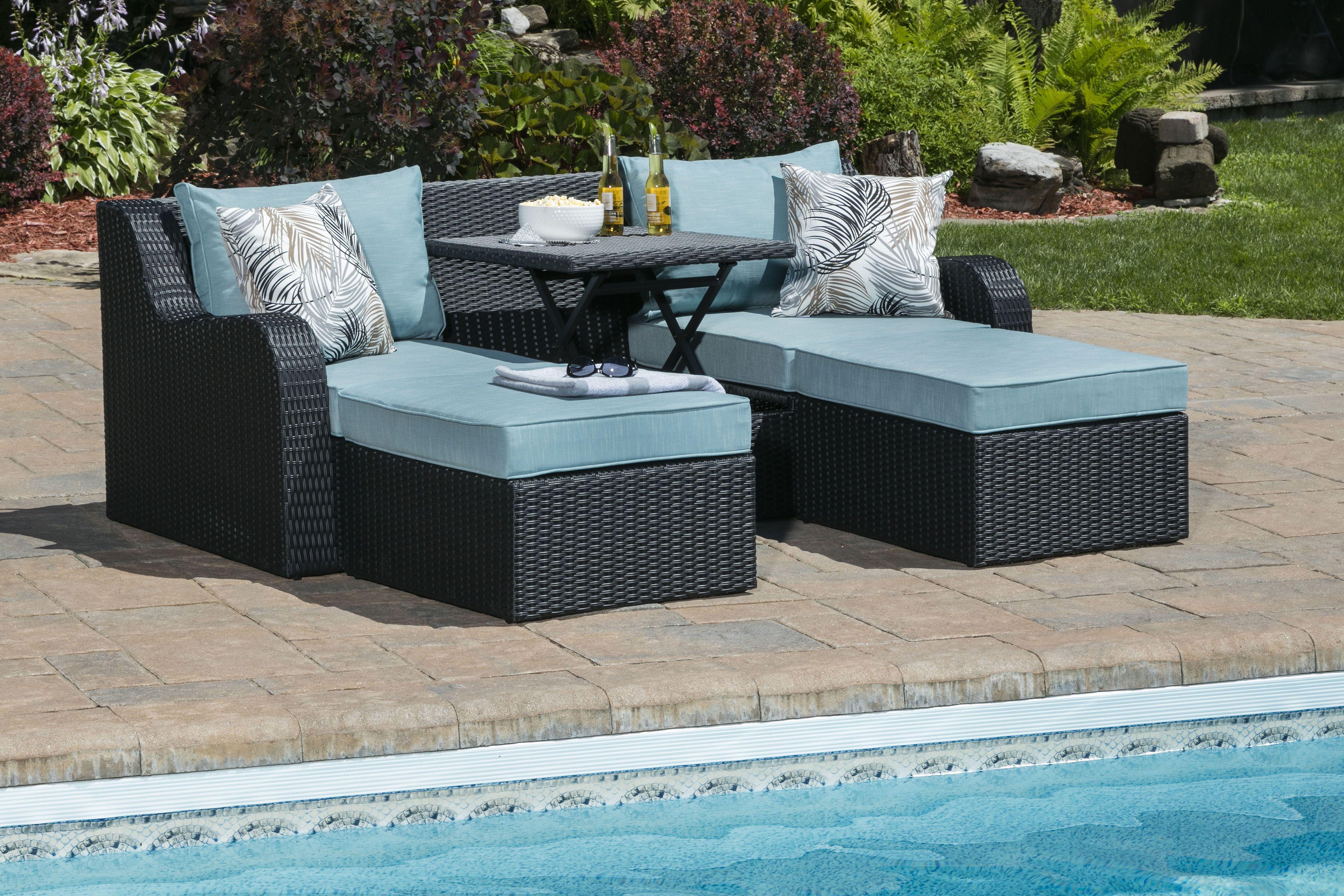 Divan Convertible Exterieur Belleville Outdoor Convertible Sofa Patio Furniture Furniture Outdoor Furniture