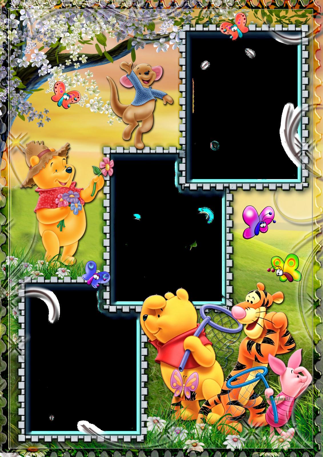 Bonitos marcos de Winnie Pooh para los peques de la casa. Para ...