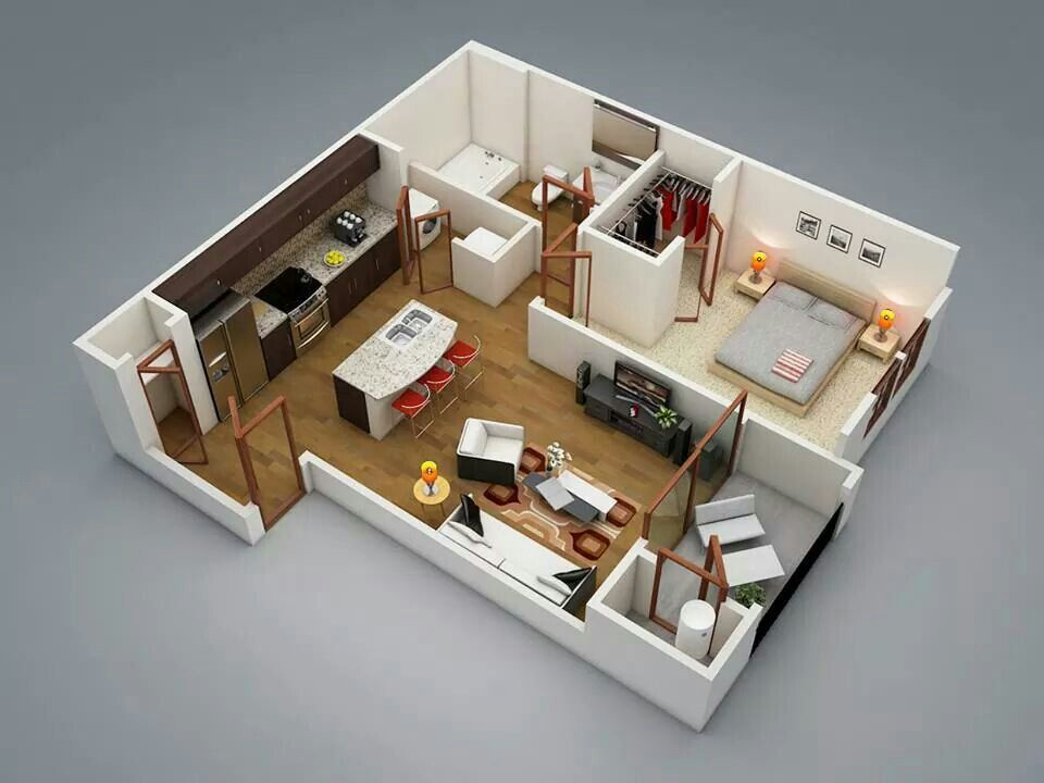 Mother in law house but I would use 2 20 foot shipping containers - plan maison sketchup gratuit