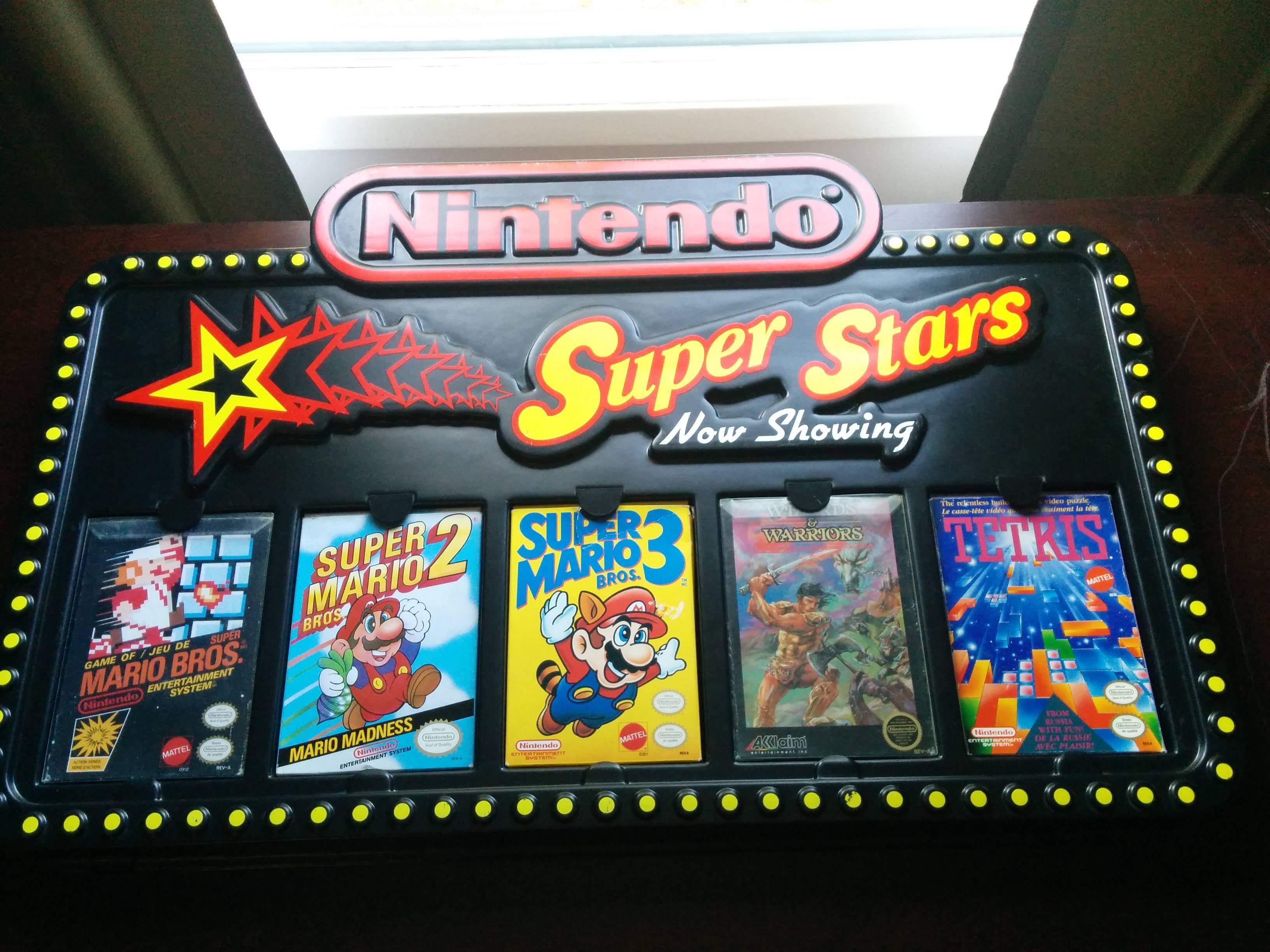 1980s Nintendo Store Display, complete with games