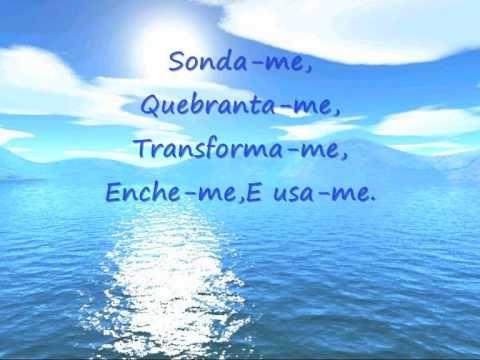 Sonda Me De Aline Barros Com Letra Youtube Sonda Me Letras