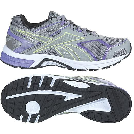 Reebok Women s Quick Chase Grey Orchid Citrus Running Shoe  f63bb7d62