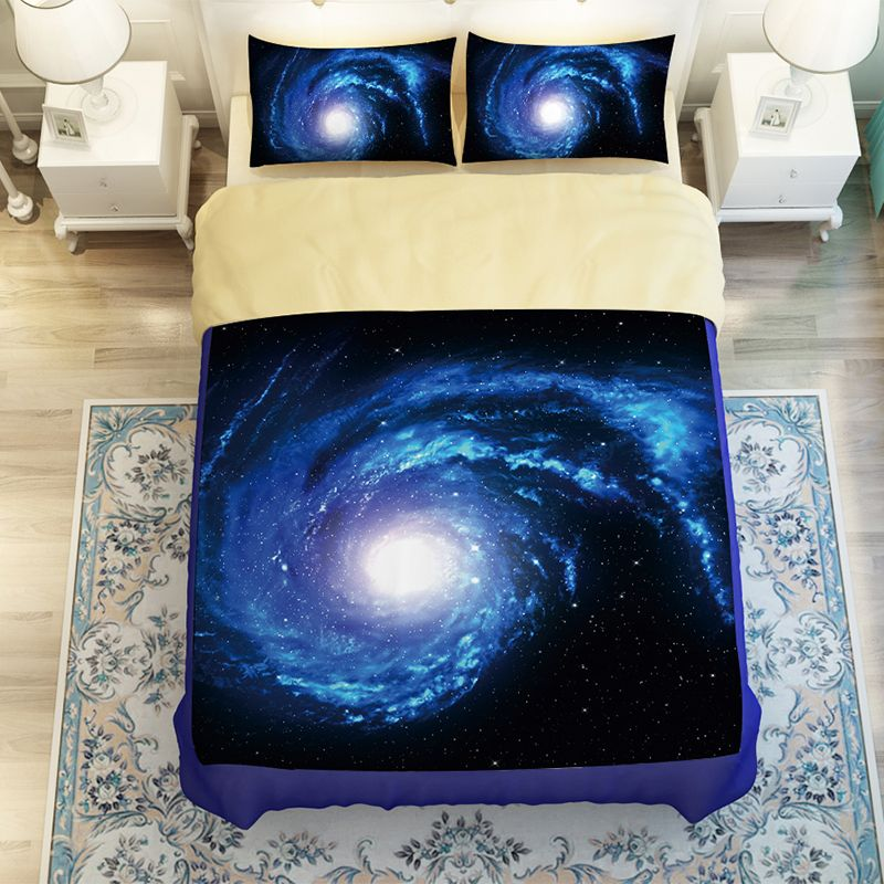 Beautiful Starry Sky Galaxy Outer E Bedding Set Twin Queen King Size Bed Sheet Duvet Cover