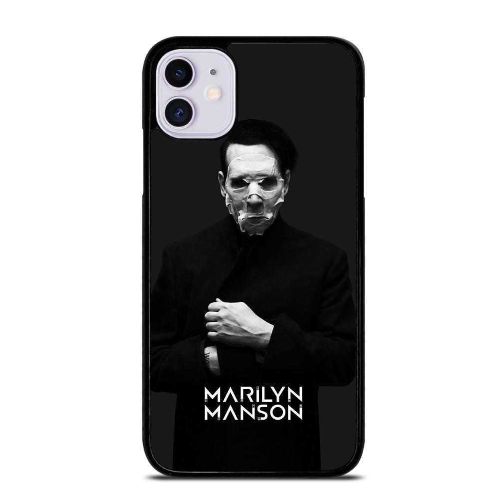 MARILYN MANSON 3 iPhone 11 Case - White / Plastic