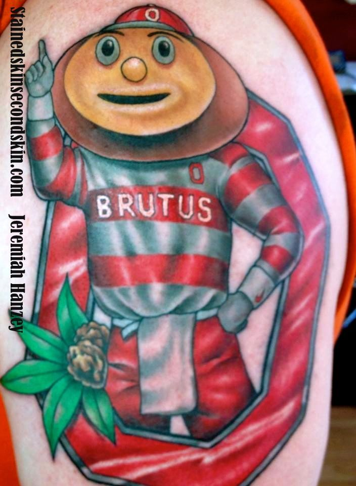 ohio state tattoo brutustattoo jeremiahhanzey stainedskinsecondskin tattoos by jeremiah. Black Bedroom Furniture Sets. Home Design Ideas