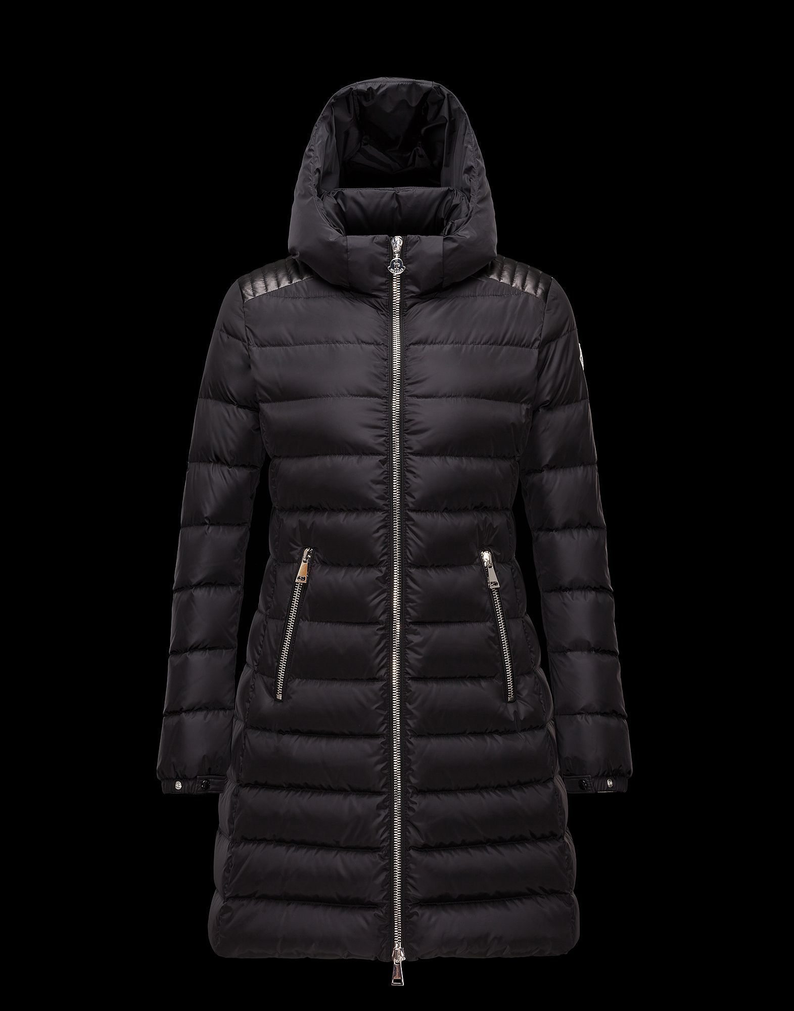 MONCLER Down Jackets SALE size 3   4 MONCLER long length OROPHIN black 14ec423bb1961