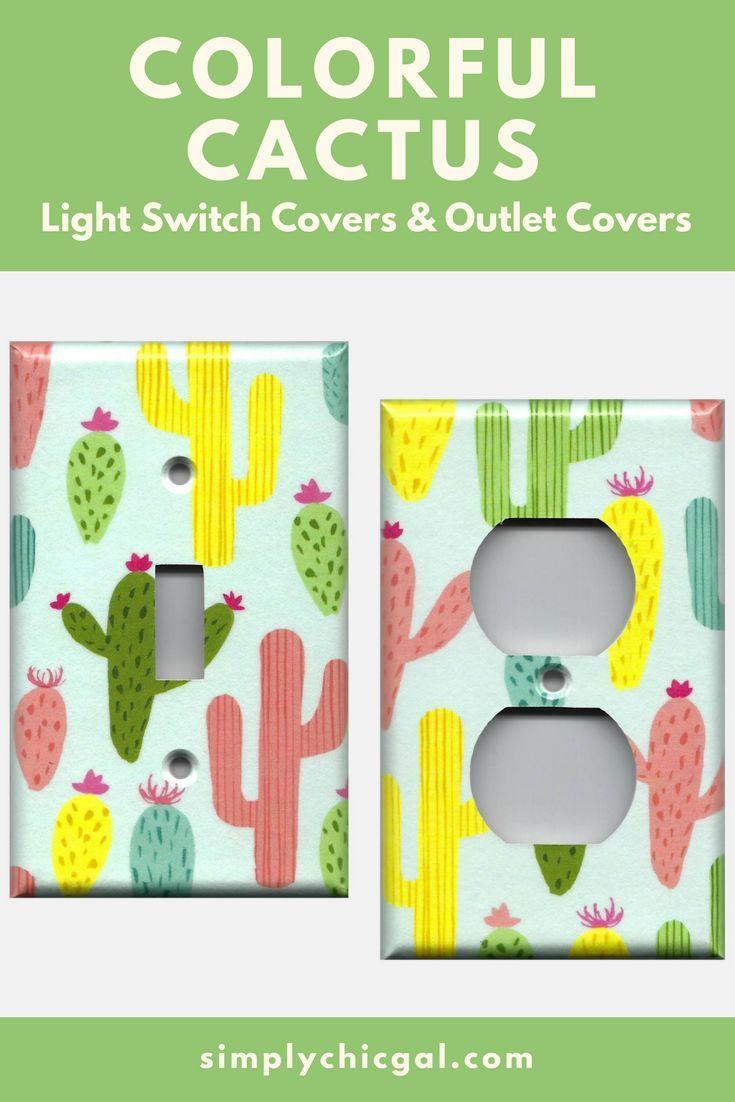 Colorful Southwest Desert Cactus Succulents Light Switch Plates ...