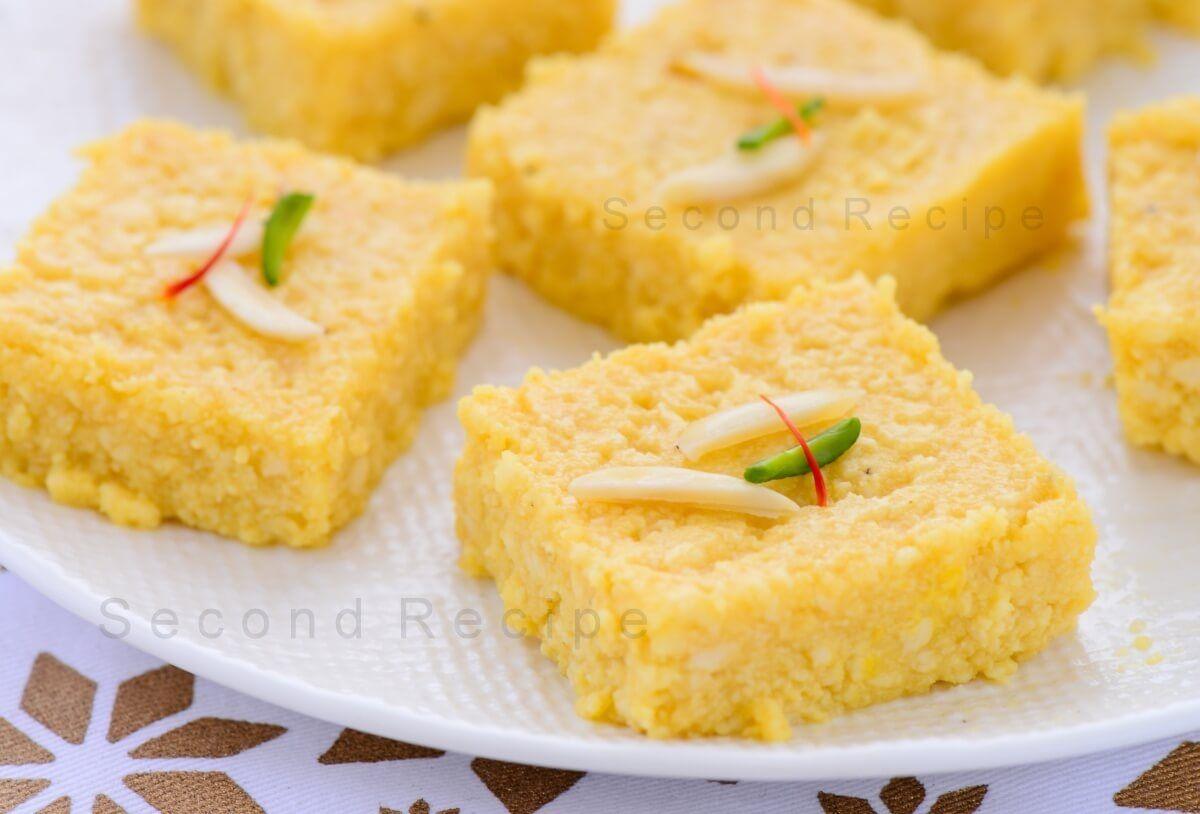Mango Kalakand Recipe Indian Dessert Recipes Food Indian Desserts