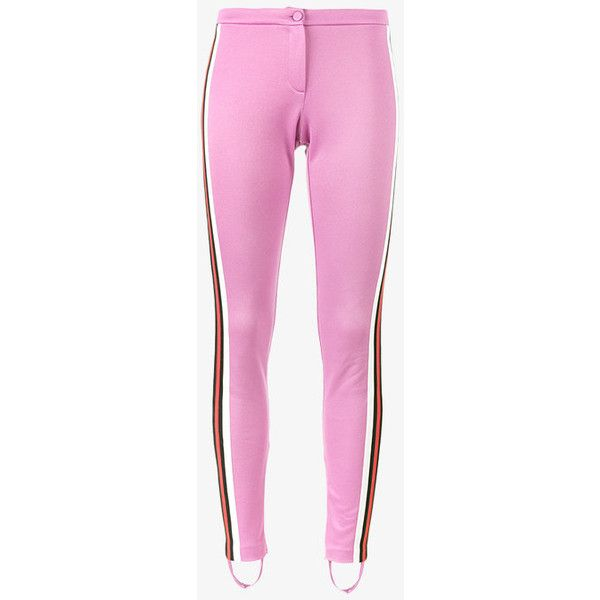 5e5c9ed4d5733 Gucci Gg Web Stirrup Legging ($890) ❤ liked on Polyvore featuring pants,  leggings, skinny pants, sport pants, sports pants, legging pants and gucci