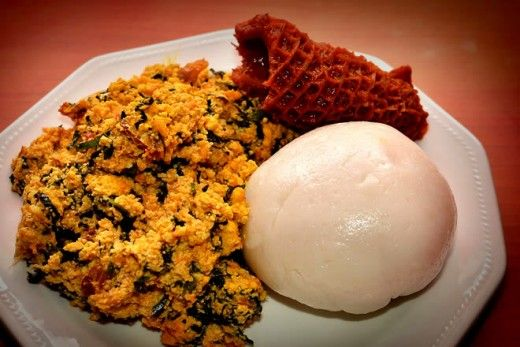 pounded-yam-and-egusi (1)   Nigeria food, African food, Nigerian food