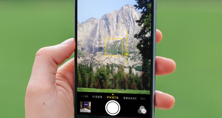 Guide how to control focus exposure on the iphone