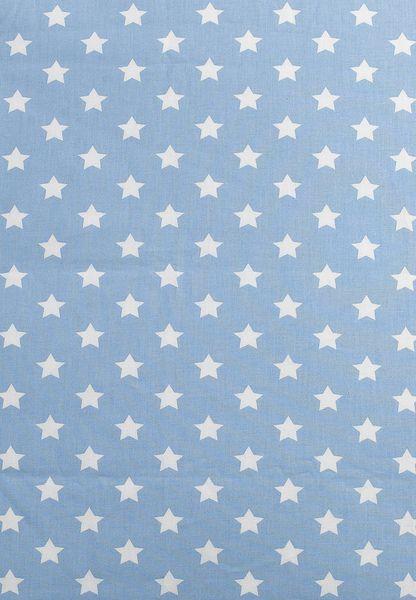 Sternen-Druckstoff hellblau, 150cm breit von Nestbauglueck auf DaWanda.com