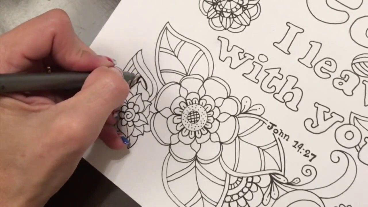 Peace Flower Doodle Quigtangle Zentangle Youtube Flower Doodles Doodles Zentangle