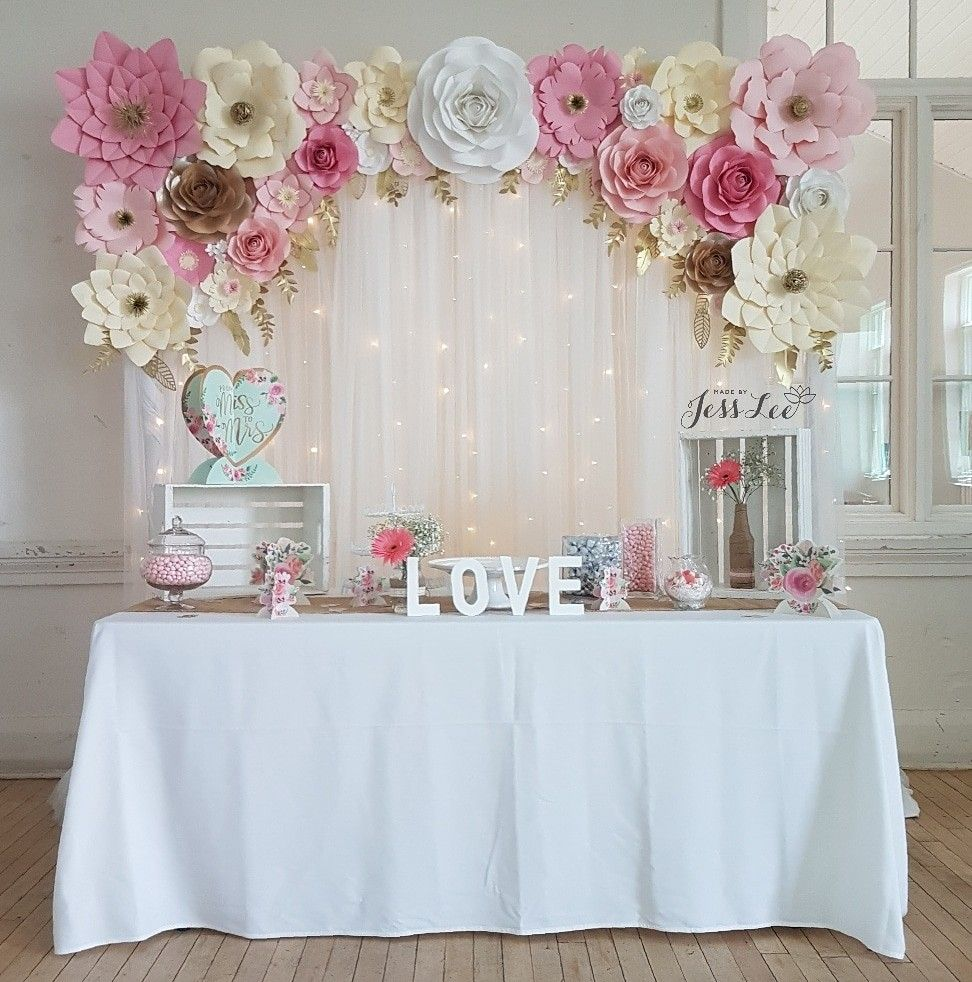 paper flower backdrop stand