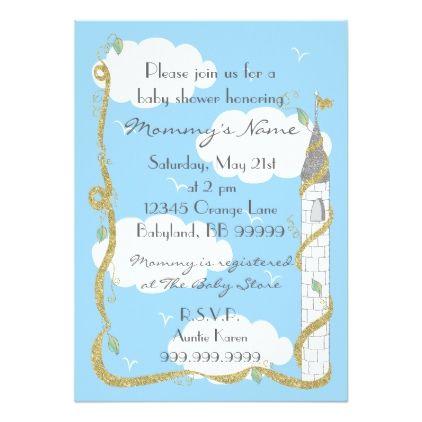 goldsilver castle card baby shower ideas party babies newborn