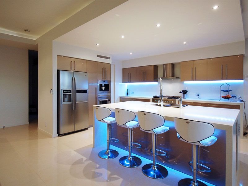 LED Kitchen Cabinet and Toe Kick Lighting - Contemporary - Kitchen ...