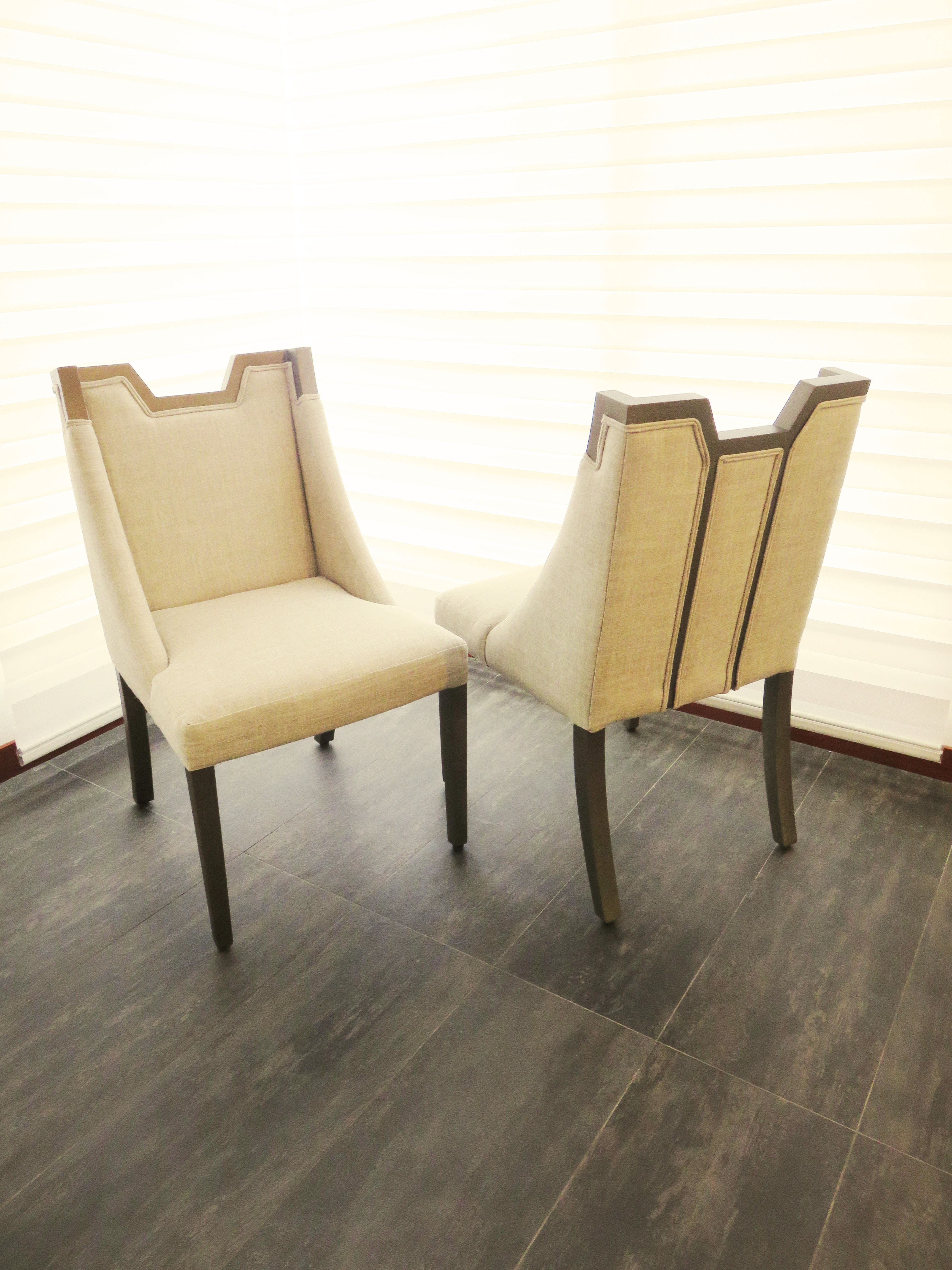 Dining chairs / Sillas de comedor estilizadas y modernas con detalle ...