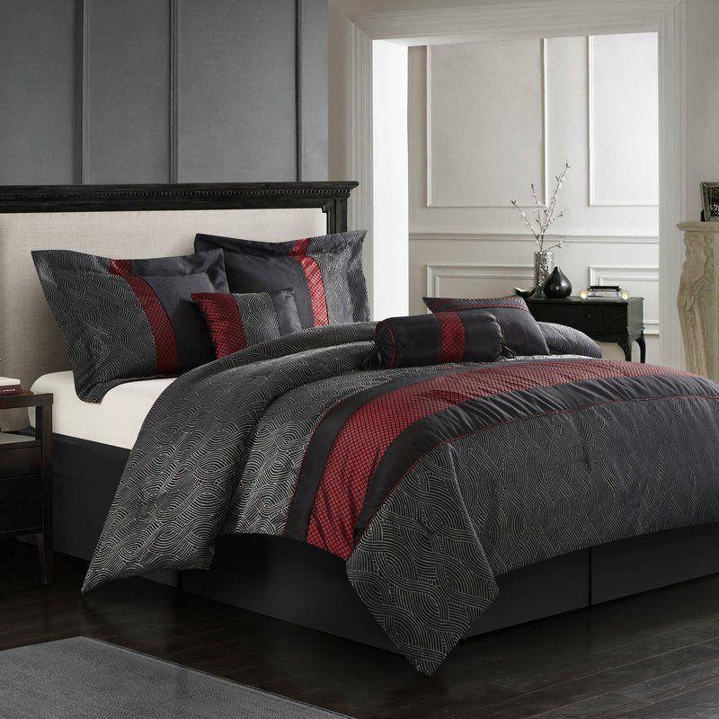 Taifa 7 Piece Comforter Set Comforter Sets King Comforter Sets Black Comforter