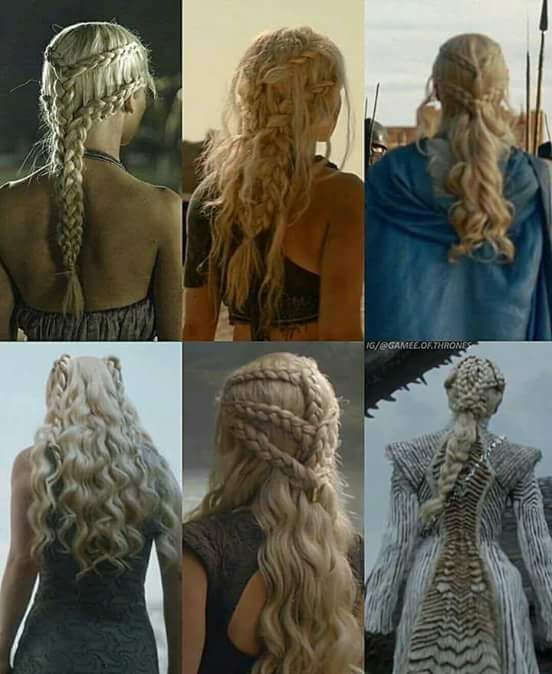 Cabelo Da Daenerys Targaryen In 2019 Khaleesi Hair Hair