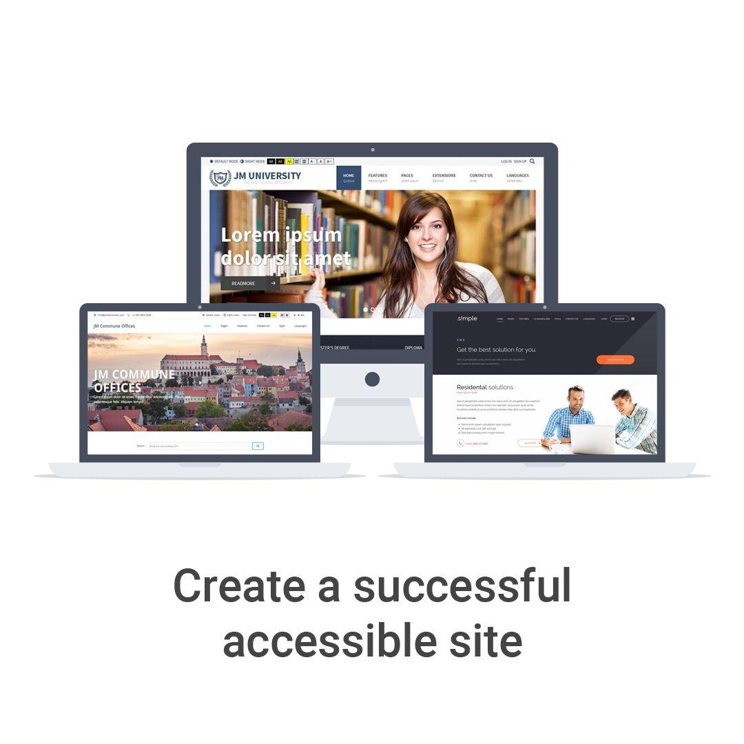Create successful accessible website using Joomla templates! #Joomla ...