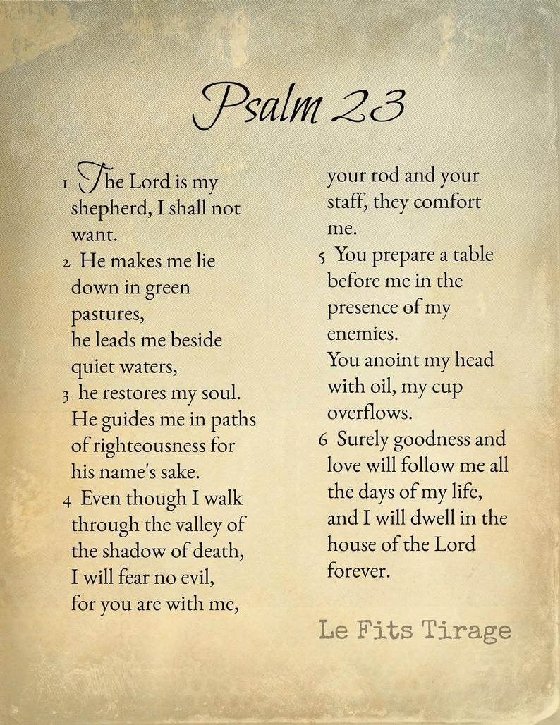 Psalm 23 • Scripture • The Lord is My Shepherd • I