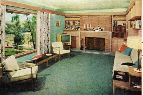 1958 living room design vintage mid century design ideas pinterest salon r tro moderne - Idees decors du milieu du siecle salon ...