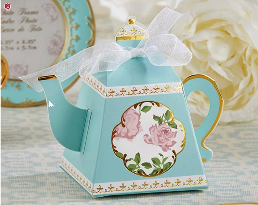 24 Pink Teapot Candy Boxes Tea Party Bridal Baby Shower Party Favors MW36673