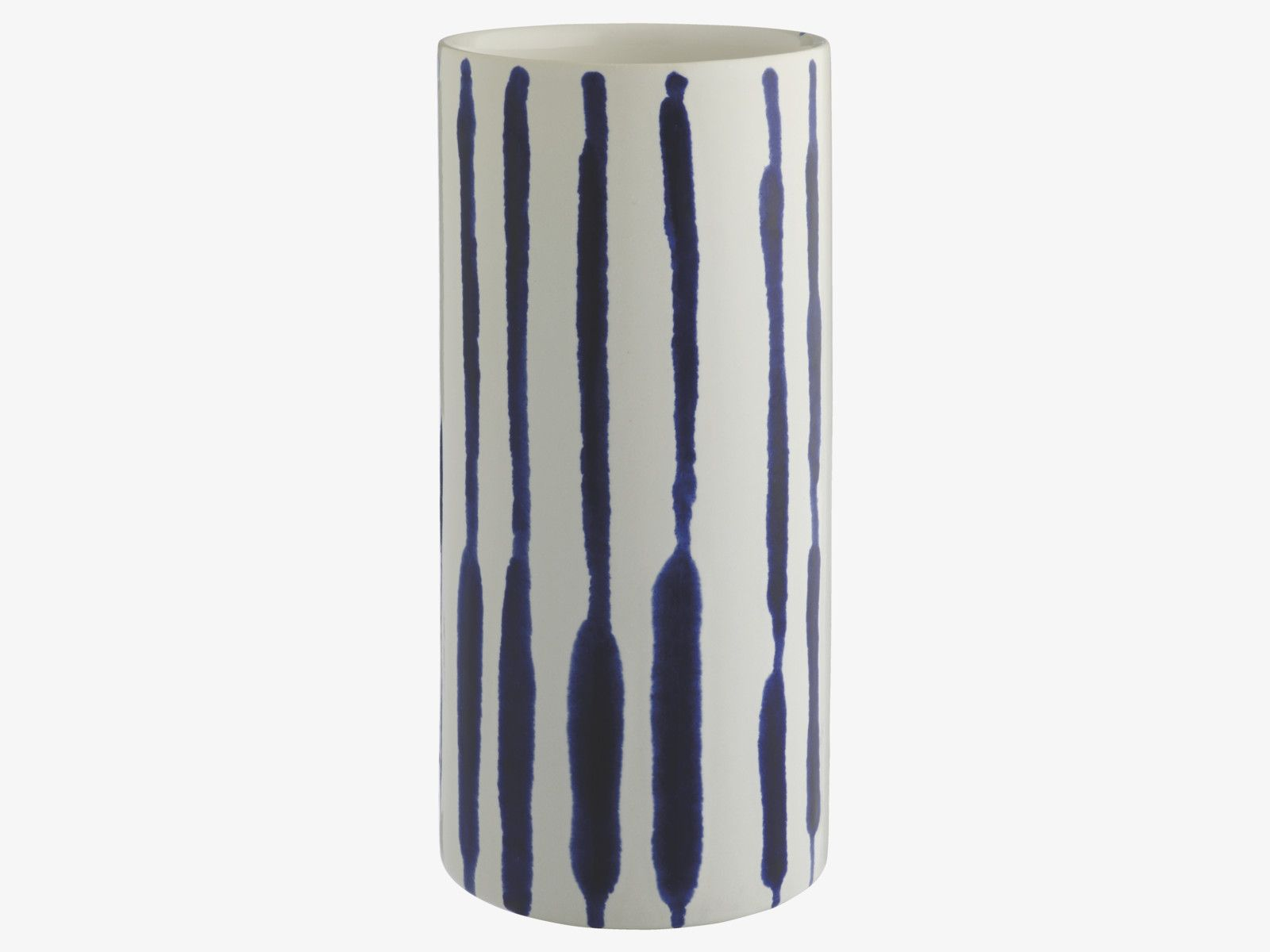 INDIE MULTI-COLOURED Ceramic Large blue patterned vase - Home Accessories- HabitatUK