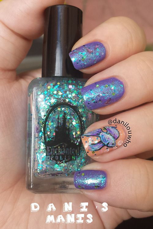 Danilouwho Betta Fish Nail Art Details On The Blog Super Fly
