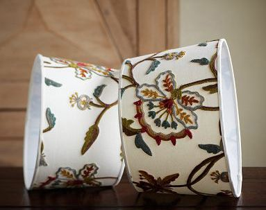 Pottery Barn Crewel embroidered lampshade | decorating | Pinterest ...