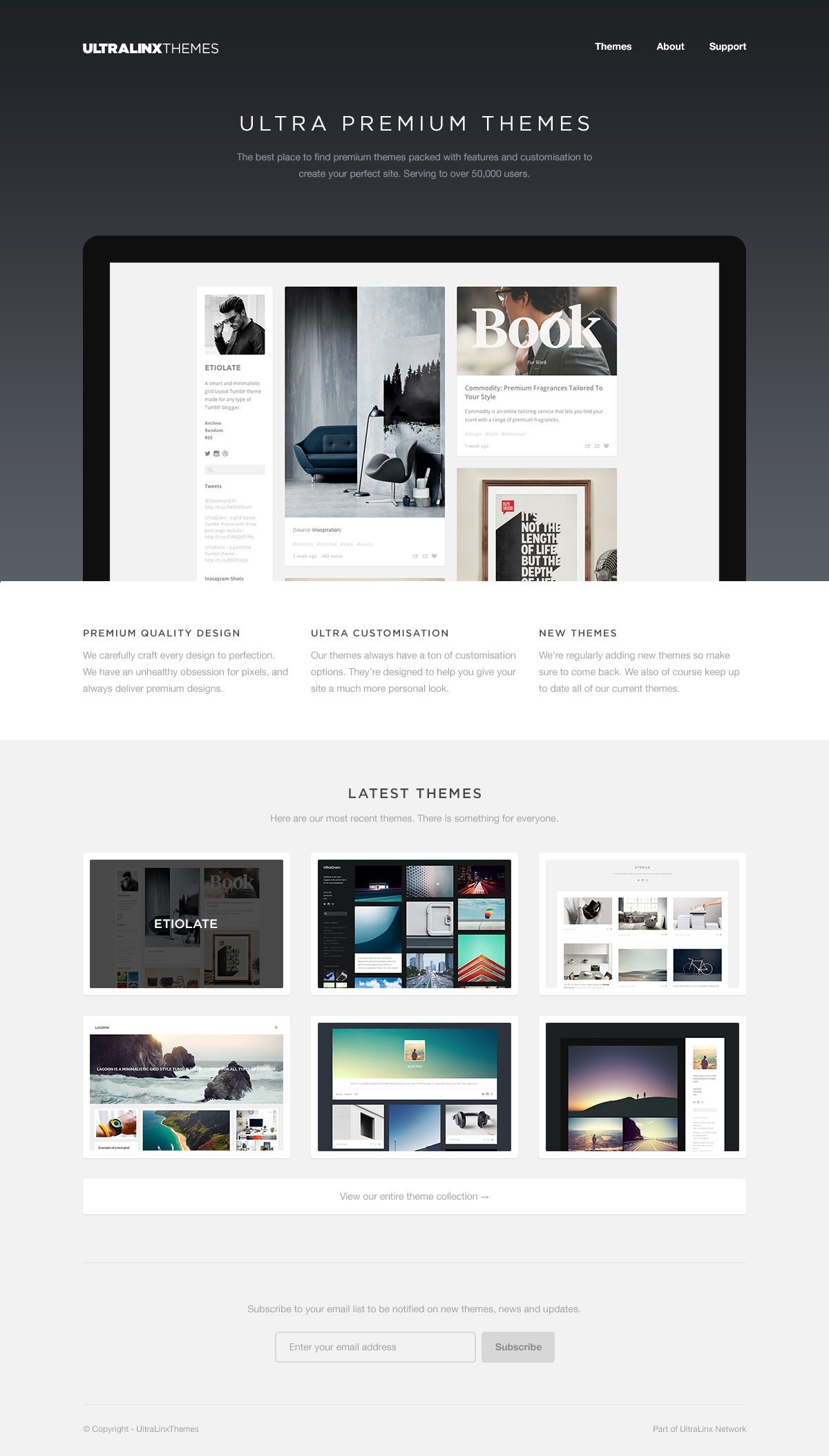 Theme Site Redesign by Oliur