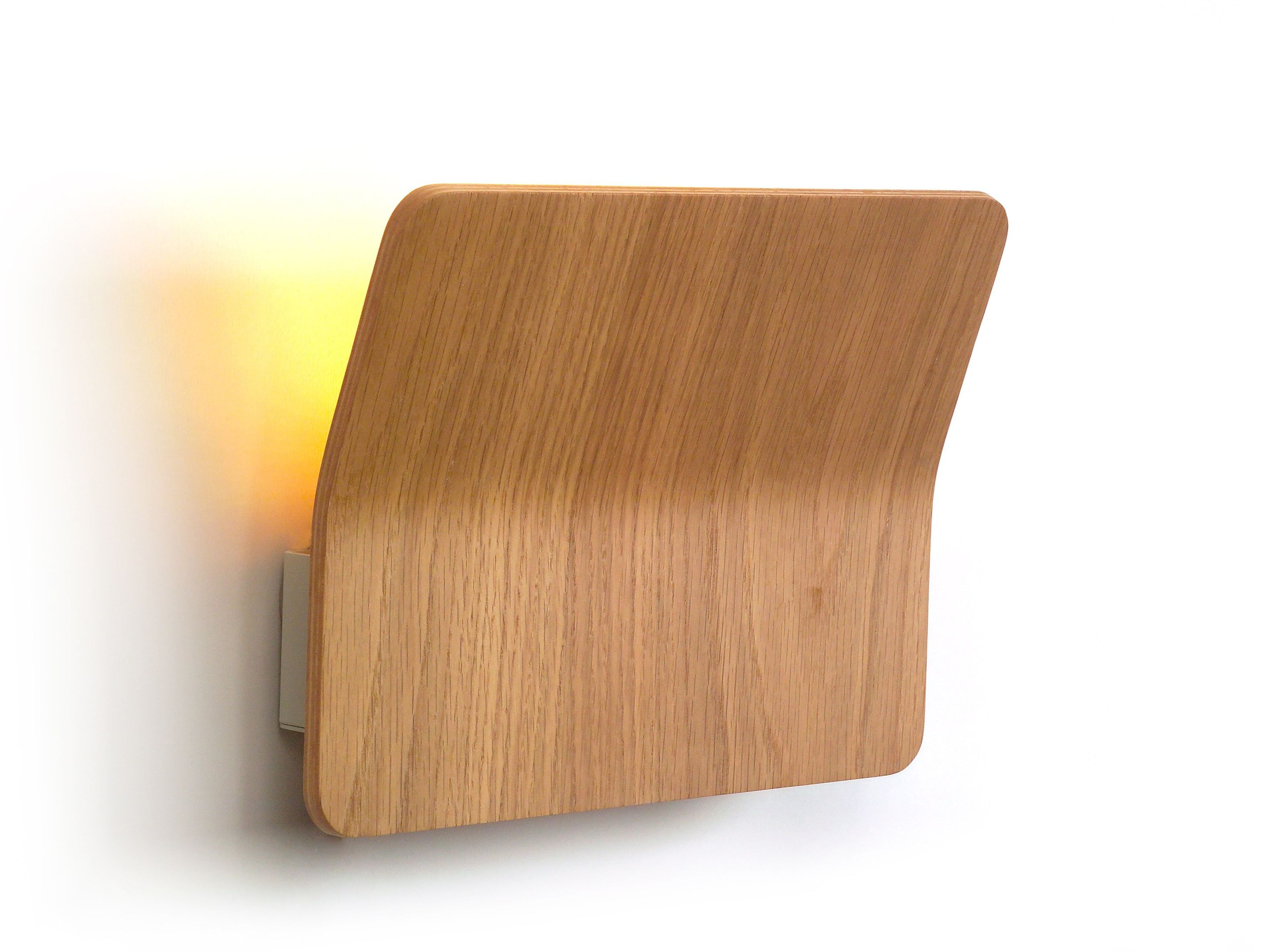 Led wooden wall light kito luxcambra lighting legno