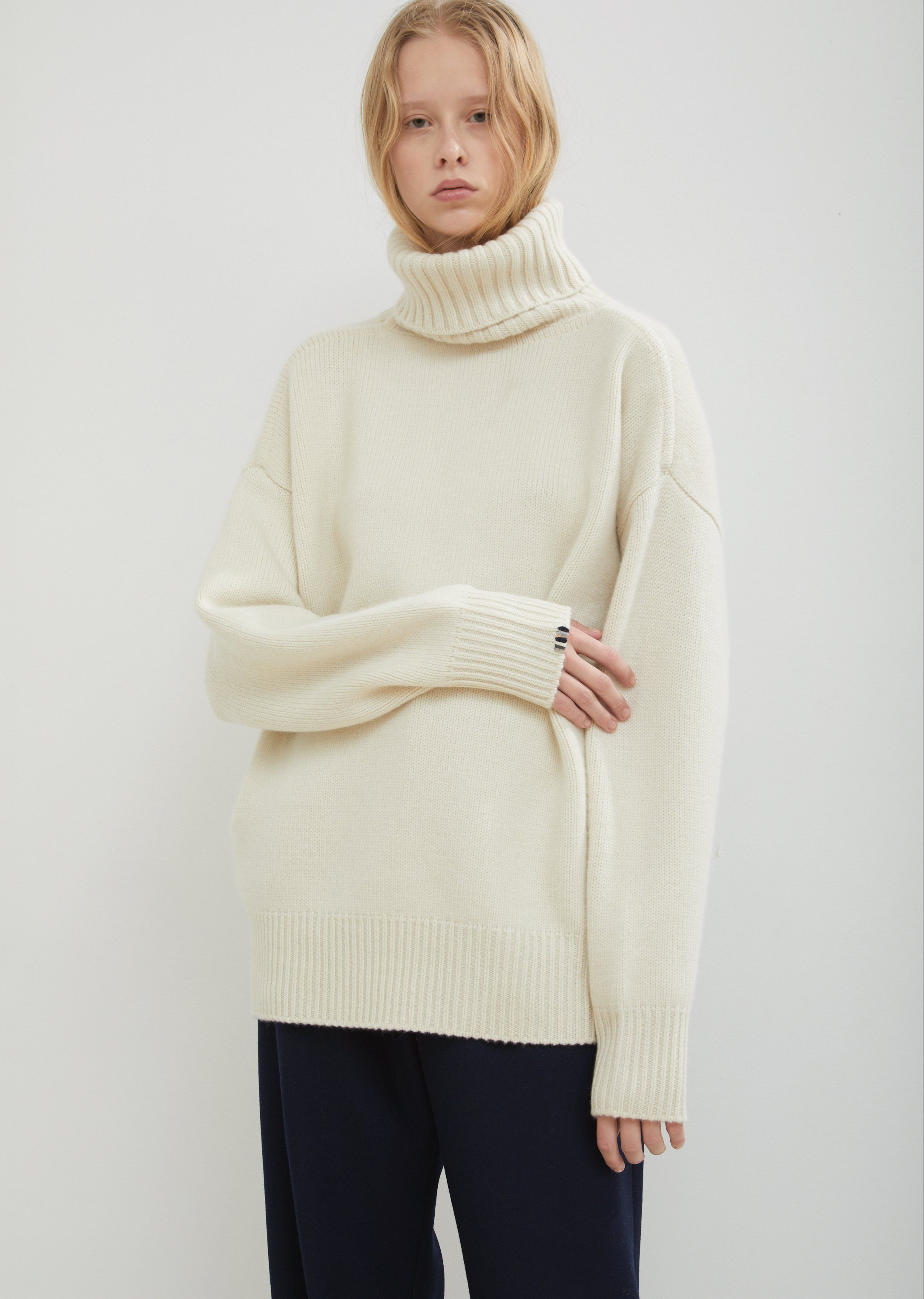 67cc1c204fe Oversize Xtra Cashmere Roll Neck Sweater - One Size / Cream ...