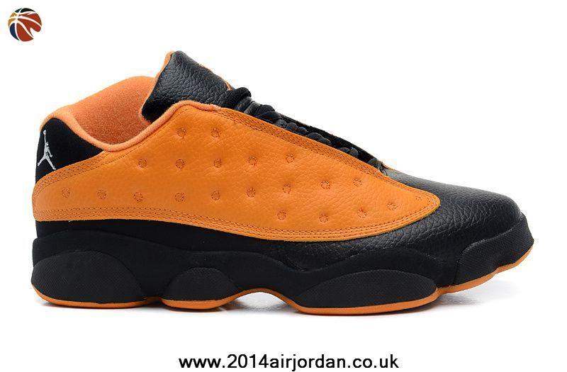 sports shoes 39a43 dbf14 Cheap Air Jordans 13 Low Black Orange Flash Shoes