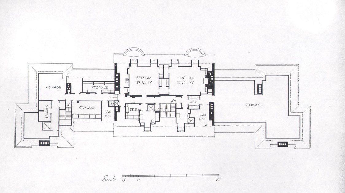 Attic Floor Plan Of The Home Of Lessing J Rosenwald Near