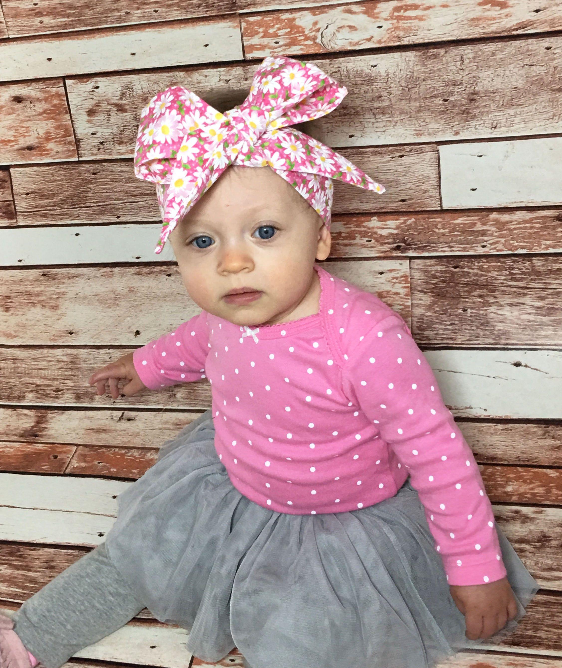 Daisy Head Wrap Baby Head Wrap Headwrap Baby Headwrap Head Wrap Pink Daisy Head  Wrap Newborn Headwrap Daisy Headband Toddler Headwrap by SuVernBowtique on  ... 727b67d0dee