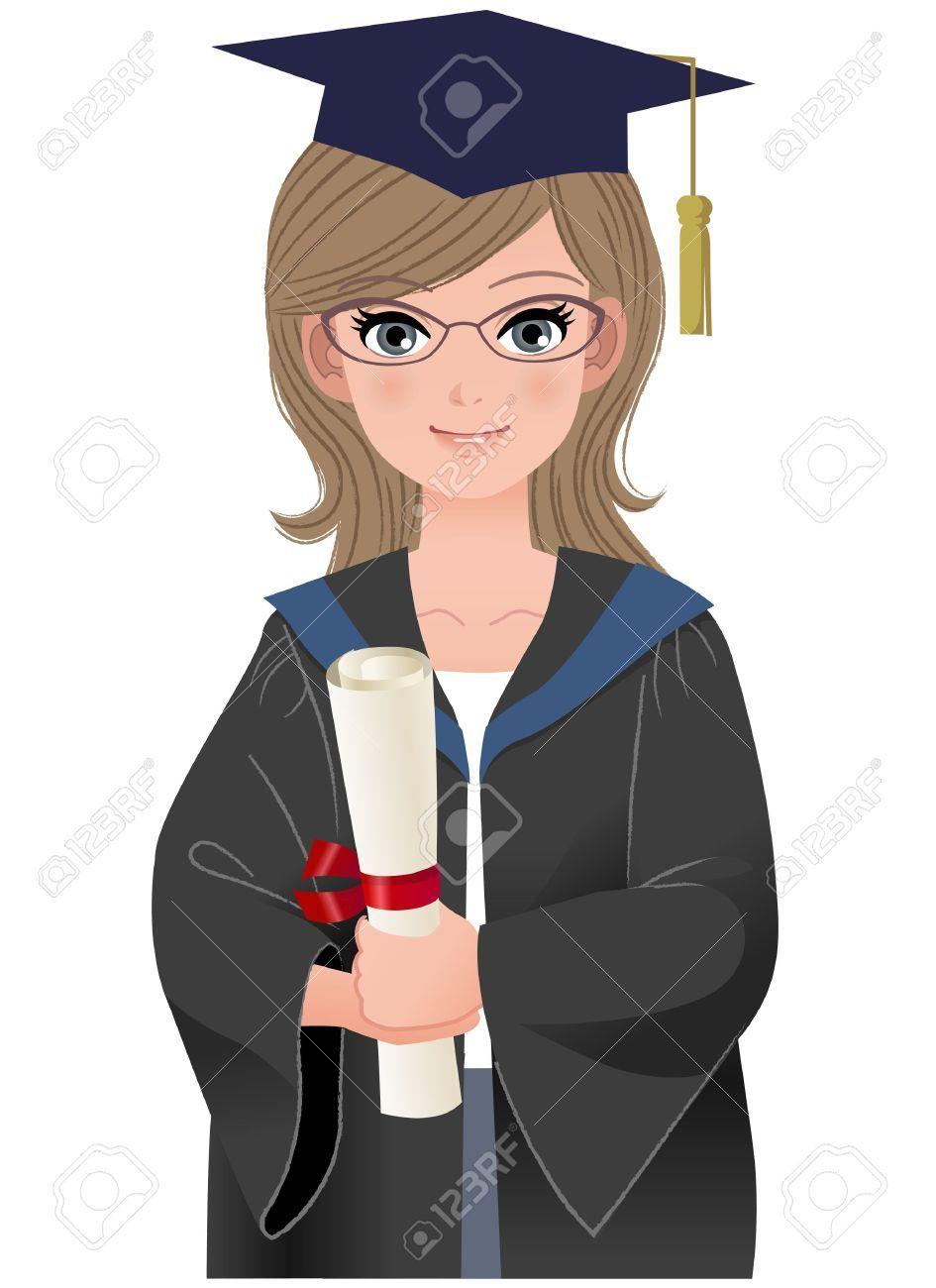 graduating college clipart