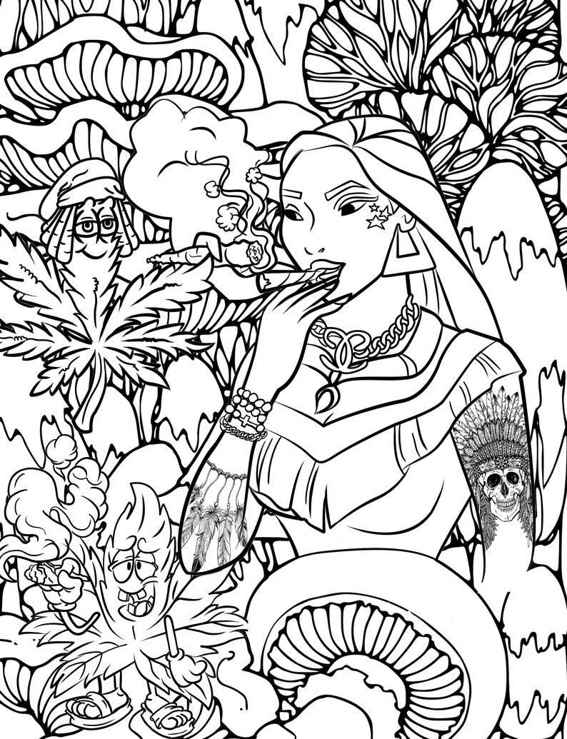 Princess Stoner Coloring Book Great Coloring Book For Adults Etsy In 2021 Disney Princess Coloring Pages Coloring Books Disney Princess Colors