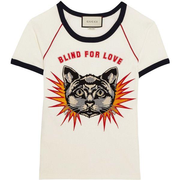 b1c1aa631aa Gucci Appliquéd printed cotton-jersey T-shirt (13