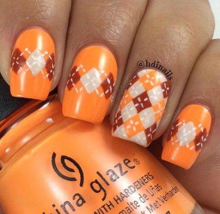 nails orange fall acrylic 58 ideas nails  acrylic nail