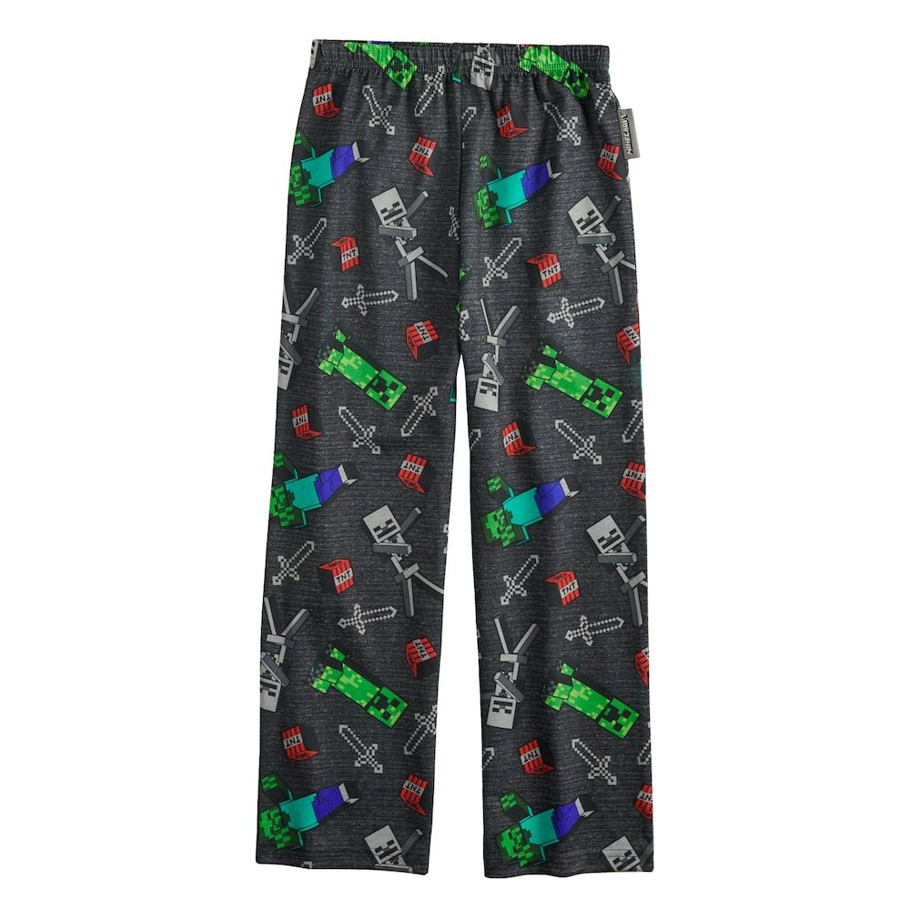 a6ba37d3 Boys 4-16 Minecraft Creeper Lounge Pants, Size: 6-8, Multicolor
