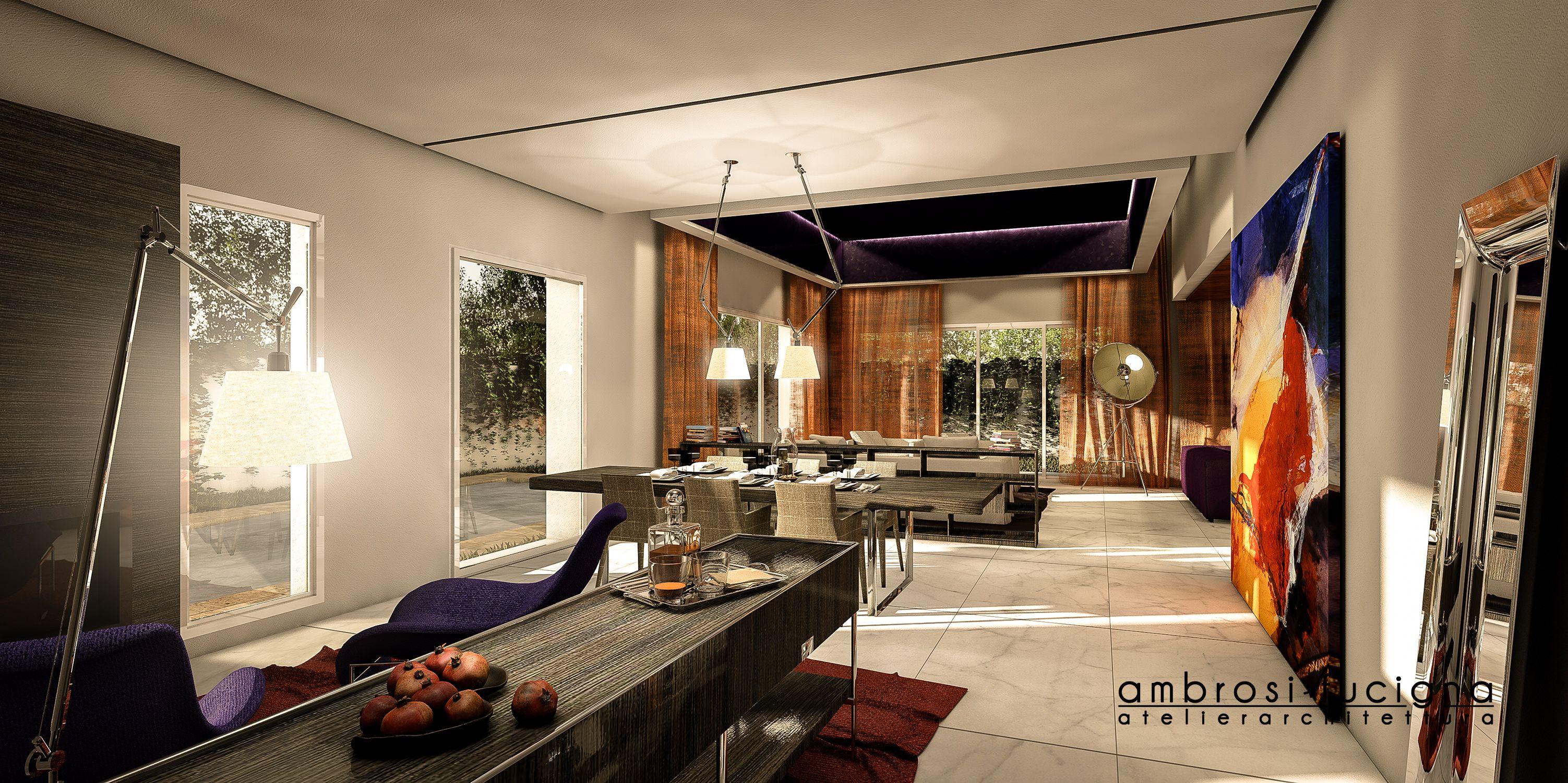 Photo of Open space con soggiorno e pranzo, ristrutturazione e restyling di villa in Fes,…