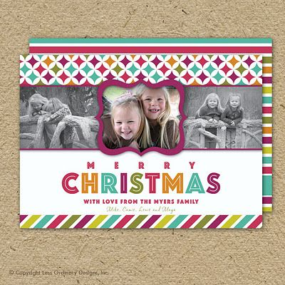 This is a Christmas Card, but I really like the layout of it